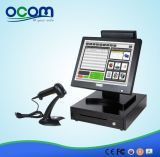 "15 "" alle in One Cash Register Stellung System mit 15 "" Dual Screen"