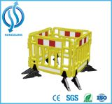 barrera portable amarilla del plástico de la seguridad de tráfico del 1m