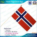 Tamaño pequeño doble línea azul a mano la bandera de Israel Held (J-NF10F02023)