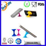 Stand fait sur commande de téléphone de silicone de mode, stand de téléphone portable de silicone, stand futé de téléphone