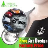 Изготовленный на заказ значок кнопки Pin/отворотом олова сувенира промотирования высокого качества