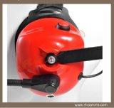 対面ラジオのための赤いヘッドセットを取り消すヘッドタイプ高い騒音の後ろ