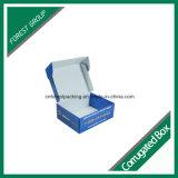 Boîte de papier ondulée imprimée par couleur faite sur commande d'emballage de papier