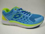 明るいカラー履物を揺する青い屋外の体操靴