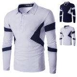 T-shirt de polo de chemise du coton de 2016 hommes de mode long (A413)