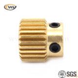 Engranaje de cobre amarillo para trabajar a máquina del CNC (HY-J-C-0209)