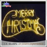 El últimos hotel de la muestra del metal LED del diseño/luz de la carta de la Navidad de la alameda