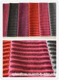Doubles tissus rayés de sofa de capitonnage de couleur en polyester