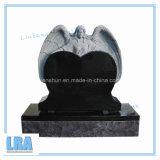 Monumento/pietra tombale neri del granito per tutto il formato