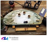 Het Chinese Dienblad van de Thee van de Steen van de Stijl Traditionele Snijdende met Aangepast
