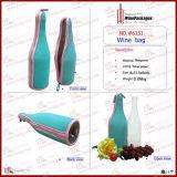 Bewegliches preiswertes kundenspezifisches Neopren 1 Flaschen-Wein-Beutel (6151R18)