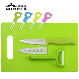 8PCS Ceramic Cutlery Set для Fruit Knife/Forks/Peeler/Chopping Board