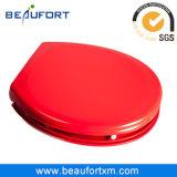 Ovale Rode Zachte Dichte Omslag UF over de Toebehoren van de Zetel van het Toilet