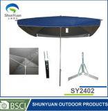 Parapluie de Sun extérieur d'enduit d'argent de décoration d'usager carré (SY2402)