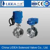 Valvola a farfalla dura elettrica dell'acciaio inossidabile della guarnizione della Cina