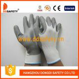 Gant en nylon blanc Dpu108 d'unité centrale de gris