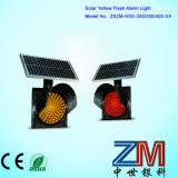 8 Zoll hoher Helligkeit-Solarverkehrs-blinkende Lampen-/rotes u. bernsteinfarbiges LED-blinkendes Licht
