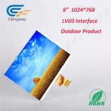 8 visualizzazione dell'affissione a cristalli liquidi di risoluzione 1024 dell'interfaccia di Lvds del video di pollice TFT-LCD (RGB) X768