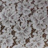 Telas florales del cordón de la cuerda del algodón del bordado para la ropa y las Hogar-Materias textiles