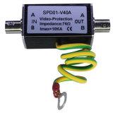 Ограничитель перенапряжения предохранения от молнии обеспеченностью CCTV одиночный видео- (SPD01-V40A)