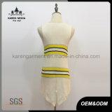 Le vêtement sans manche Salut-Lo des femmes rayées tricotées de bord