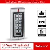 Telclado numérico independiente Wiegand de la puerta RFID del telclado numérico del control de acceso del diseño del Anti-Vándalo del metal dos