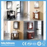 Le Module compact de cavité de salle de bains en bois solide avec le métal paye (BV163W)