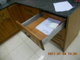 Tempered Glass Upper Cabinet Doors를 가진 단풍나무 Solid Wood Office Book Cabinets
