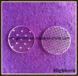 Glace ronde de quartz de disque clair avec des trous