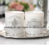 Velas románticas blancas de la boda de la soja como regalo