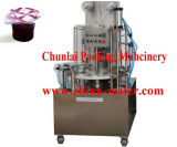 회전하는 유형 요구르트 컵 채우는 밀봉 기계
