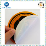 Impresión oval de la pegatina para el parachoques del PVC de la alta calidad para la etiqueta engomada del coche (JP-S162)