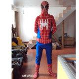 Completamente traje personalizado da mascote do homem de aranha da qualidade