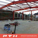 研修会または倉庫としてプレハブの産業鉄骨構造の建物