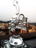 A fábrica de China do reciclador de Dubble modela o mais tarde a tubulação do vidro do reciclador