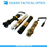 Erains Tac Leistungs-lange Reichweiten-militärisches taktisches Grün-Laserdesignator-Belichtungseinheits-Fackel-Licht der Optik-Adjustable300MW