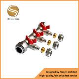 De Kogelklep van het Messing van het Handvat van de Vlinder van het aluminium (Tfb-040-002)