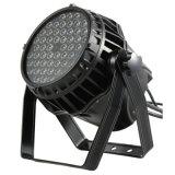 Luz impermeable de la IGUALDAD del disco al aire libre LED de 54*3W RGBW