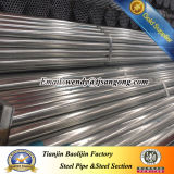 """tubo de acero galvanizado sumergido caliente BS1387 del 1/2 """""""