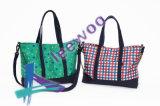 Impression de pistes de femmes de plage de course d'achats de sac d'épaule de sac à main de sac de toile et d'emballage de sports