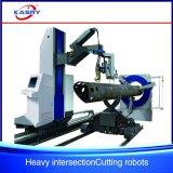 Maquinaria lidando do plasma do CNC de 8 linhas centrais para a estaca da câmara de ar da tubulação e do quadrado