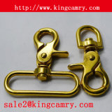 Gancho contínuo da pressão do parafuso de bronze do gancho da pressão do gancho de mola do metal do gancho do giro do disparador do gancho do cão para a chave da bagagem da bolsa do saco