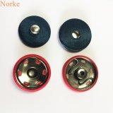 Bouton en métal cousant le bouton instantané avec couvert de tissu