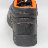 De Schoenen van de veiligheid (Bovenleer: Het leer Sole van Pu: Rubber). De Schoenen van het werk