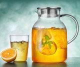 бак чая кофеего опарника сопротивления жары 1.8L стеклянный для оптовика