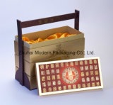 Wooden Handleの6PCS高いEnd Portable Mooncake Packaging Box