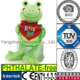Le cadeau mou de Valentine de peluche m'embrassent jouet de peluche de grenouille