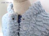 Abrigo de pieles falso a prueba de viento de los niños con el botón presionado