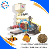 Máquina de fabricação de pastilhas de alimentos para peixes flutuantes extrusora
