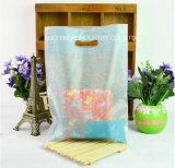 Zoll druckte Plastikträger-Plastik gestempelschnittene Beutel-Locher-Loch-Griff-Einkaufstasche